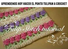 Como hacer el punto tulipan de crochet - Patrones Crochet