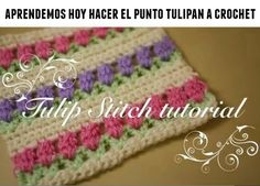 punto tulipan de crochet tutorial