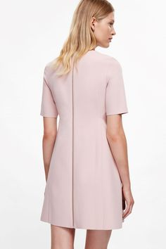 COS image 9 of Fitted waist dress in Rose Pink