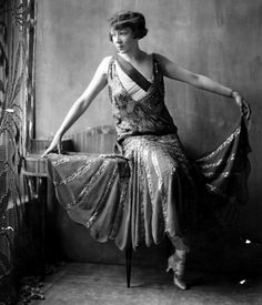 American Dancer Cynthia Perot Poses In A Sparkling, Sleeveless, Dress, By Jenny