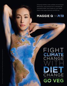 climate change : go veg  maggie Q