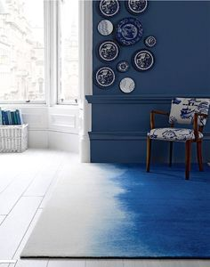 Today I'm loving : blue ombre rug - French By Design