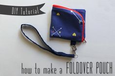 DIY Tutorial and Pattern –Fold-over Zippered Pouch with Wrist Strap — Sew DIY