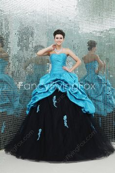 Brilliant Shallow Sweetheart Neckline Ball Gown Floor Length Quinceanera Dresses Multi-Colored  $198.00