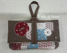 El taller de Maricú: Boro Clutch bag... Japanese Patchwork, Patchwork Bags, Quilted Bag, Fabric Wallet, Fabric Bags, Boro, Sashiko Embroidery, Art Bag, Diy Purse