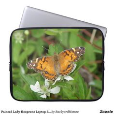 Painted Lady Neoprene Laptop Sleeve. Laptop Sleeves