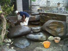 Proses pembuatan kolam