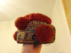 Antique Yao Lu Mienh Hill Tribes South East Asia Child's Girl's Hat Embroidery in Antiques, Asian/Oriental Antiques, South-East Asian | eBay