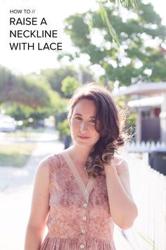 megan nielsen design diary: Tutorial // how to raise a neckline with lace