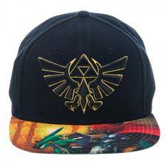 The Legend of Zelda Ocarina of Time Sublimated Bill Snapback Cap Hat e3e2e01ac3