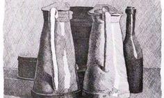 morandi still life five objects. '