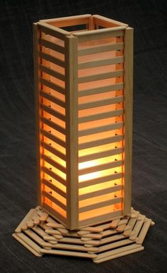 another Popsicle lamp