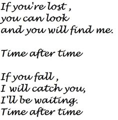 Love Cindy Lauper - Time after time <3love this song