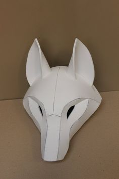 Kistune Fox Mask Base Pattern Tutorial für EVA-Schaum, Mascara is known as a cosmetic commonly famil Cosplay Tutorial, Cosplay Diy, Cosplay Costumes, Foam Costumes, Fursuit Tutorial, Cardboard Mask, Kitsune Mask, Paper Mask, Paper Mache Mask