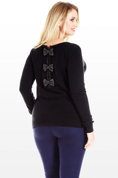 $30 The Final Bow Knit Top
