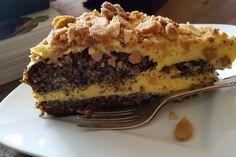 Illes super schneller Mohnkuchen ohne Boden mit Paradiescreme und Haselnusskrokant, ein sehr schönes Rezept aus der Kategorie Torten. Bewertungen: 239. Durchschnitt: Ø 4,5.