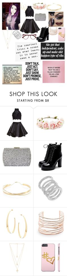 """she came to break rules but left with the crown"" by snow-queen13 ❤ liked on Polyvore featuring Alyce Paris, Forever 21, Natasha, Lana Jewelry, Cole Haan, Lana, Alexis Bittar, Natalie B and EyeBuyDirect.com"