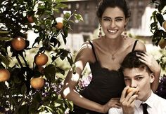 Dolce & Gabbana sicilia - images where a family or small community is suggested by a combination of either all models or a mix of models and non-models