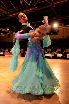 S820 Tanzanite Mint green Standard Dance Costume for sale - Dreamgown