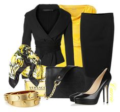 Donna Karan at her best! by goldieazcmd on Polyvore featuring polyvore, fashion, style, Jimmy Choo, Lanvin, Versace, clothing, versace, tory burch, donna karan, lanvin, jimmy choo and net-a-porter