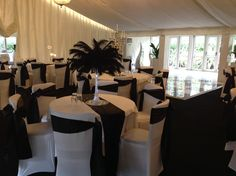 Eiffel Tower arrangements with black feathers, are certain to add the 'Wow' factor to any event. Hire in The Midlands from Make It Special Events. http://www.makeitspecialevents.co.uk/
