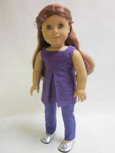 18 inch American Girl Doll Clothes  Purple by IndustriousDog, $11.00