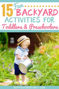 15 Fun Backyard Activities for Toddlers & Preschoolers – Happy Outdoor Family Are you looking for some fun backyard activities for toddlers and preschoolers? Check out this list full of ideas for things to do. Great for young kids! Outdoor Activities For Toddlers, Summer Activities For Kids, Educational Activities, Fun Activities, Children Activities, Parenting Toddlers, Parenting Classes, Parenting Books, Parenting Tips