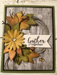 Halloween Cards, Fall Halloween, Fall Cards, Holiday Cards, Leaf Cards, Stampinup, Stamping Up Cards, Thanksgiving Cards, Paper Cards