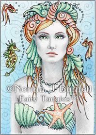 "©Norma J Burnell's Coral unmounted rubber stamps 2.50""x3.75"" $6.99 www.sweetpeastamps.com"