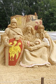 Sand sculpture with added color… photo by RubyDesign, via Flickr