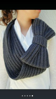 Infinity scarf with bow.