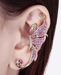 Rhinestone Butterfly Ear Clip - at a reasonable price!