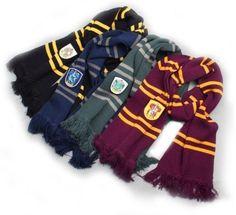 Harry Potter Warm Soft Gryffindor Slytherin Ravenclaw Hufflepuff Scarf Xmas Gift