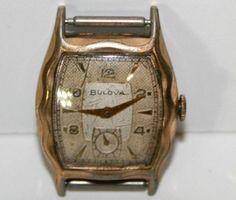 Bulova Vintage Men Watch L7 Swiss Wristwatch Gold Tone