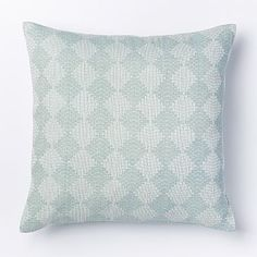 Hand-Loomed Subtracted Diamonds Pillow Cover - Pale Harbor #westelm