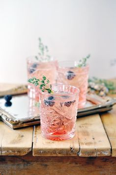 The Love Potion cocktail: Blackberries and thyme make this cocktail taste like something out of an enchanted garden.