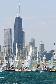 Chicago, start of the Mackinac race