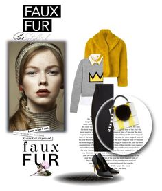 """Faux fur"" by dragonfly-lt ❤ liked on Polyvore featuring Pretty Green, Jean-Paul Gaultier, Alice + Olivia, Roland Mouret, Les Petits Joueurs and Rupert Sanderson"