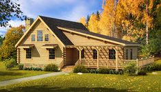 """""""The Chatham"""" is one of the many log cabin home plans from Southland Log Homes. You can customize the Chatham to meet your exact needs with our free design tools."""