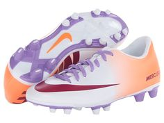 these cool coral, violet, and magenta outdoor soccer cleats for free shipping at Zappos.com
