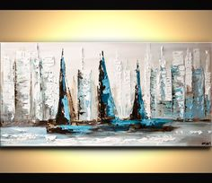 Abstract art by Osnat Tzadok (mediterranean style)