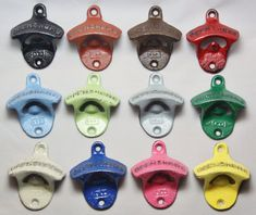 Bottle Opener Pick Your Color Rustic Cast Iron Open Here Wall Mount Unique Drawer Pull Great Christmas In July CIJ on Etsy, $7.99
