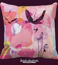 by Barb Chotiner #kindredArtCollective #Pillow #spring #bird #art #decor #pattern