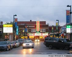 Aggieville, in Manhattan Kansas. Oh.. this was when they still had the cheap theater! I miss my high school days.