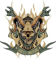 High Quality Guaranteed,create a gift with Hell motor zombie with horn Design logo on t shirts or phone cases from HICustom.net .24 hour service available.