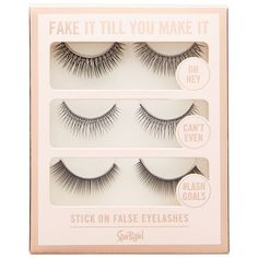 FAKE IT TIL YOU MAKE IT FAUX EYELASHES ($11) ❤ liked on Polyvore featuring beauty products, makeup, eye makeup and false eyelashes