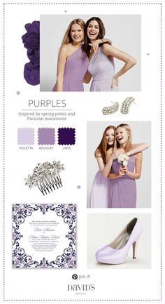 Pretty shades of violet are so romantic for a garden wedding.