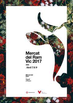 Poster by Xavier Esclusa Trias / Mercado del Ram Vi … – … - Graphic Work Buch Design, Graphisches Design, Cover Design, Layout Design, Logo Design, Sport Design, Cut Out Design, Design Ideas, Visual Design