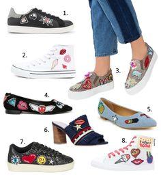 Tendances chaussures Printemps,Eté 2017  les écussons façon pop\u0027art
