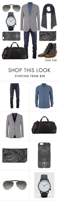 """""""Lince Water Grey"""" by fakefur on Polyvore featuring Balmain, Lyle & Scott, Topman, Cole Haan, Yves Saint Laurent, County Of Milan, Ray-Ban, ASOS, DESTIN and men's fashion"""